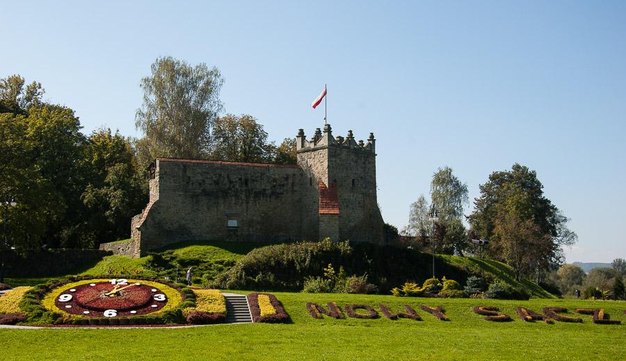 Zegar kwiatowy i Ruiny Zamku - Baszta Kowalska