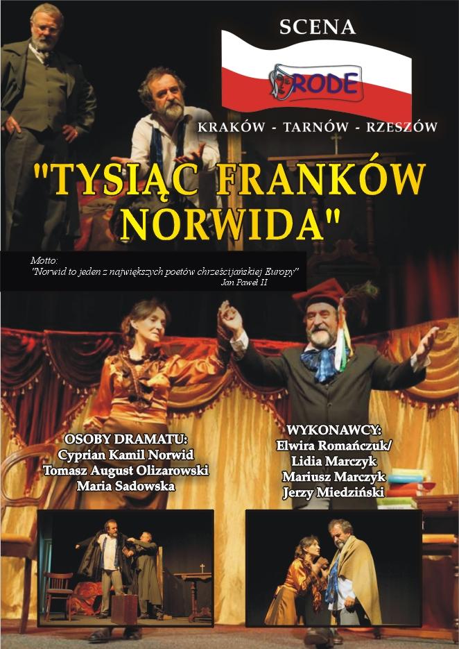 Plakat_Tysi¦ůc_frank+-w_Norwida