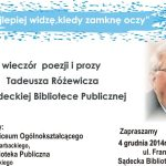 Tadeusz Różewicz – wieczór poezji i prozy w Sądeckiej Bibliotece Publiczej