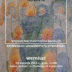 [Krynica]: Wystawa prac plastycznych słuchaczy Krynickiego Uniwesytetu Otwartego