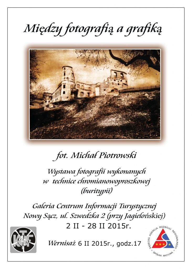 Plakat -Michał Piotrowski-wernisaż