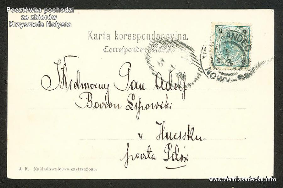 Pocztówka długo adresowa - gruss