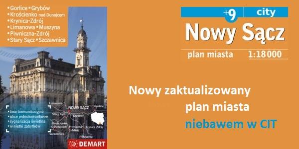 Zaktualizowny plan Miasta Nowego Sącza już w sprzedaży!