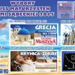 Wybory Miss Maturzystek Ziemi Sądeckiej 2015