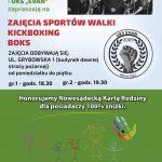 Zajęcia sportowe Boks i Kickboxing