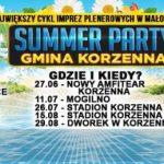 [Korzenna]: Summer Party – 27 czerwca Amfiteatr w Korzennej – pierwsza impreza