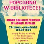 [Łabowa]: Dzień Popcornu w Bibliotece