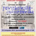 Czytanie Rocznicowe – Maria Pawlikowska – Jasnorzewska