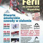 [Krynica – Zdrój]: Otwarte Amatorskie Zawody w Slalomie