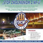 STOP Zwolnieniom z WF – u