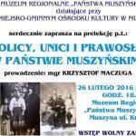 """[Muszyna]: Katolicy, Unici i prawosławni w """"Państwie Muszyńskim"""""""