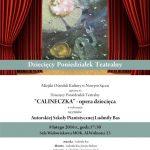 Młodzieżowy Poniedziałek Teatralny – Calineczka – opera dziecięca