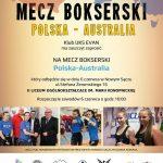Mecz bokserski: Polska – Australia