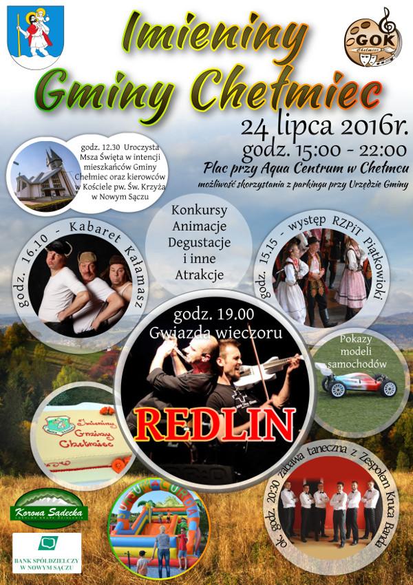 24 lipca imieniny gminy chelmiec