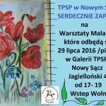 Warsztaty malarskie z TPSP Nowy Sącz