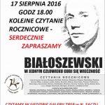 Czytanie Rocznicowe – Białoszewski