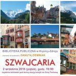 [Krynica – Zdrój]: Klub Podróżnika – Szwajcaria