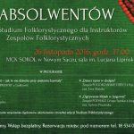 Gala absolwentów 4. Studium Folklorystycznego dla Instruktorów Zespołów Folklorystycznych