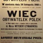 Afisze z czasów I wojny światowej i pierwszych dni  Niepodległej Polski