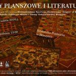 [Muszyna]: Gry planszowe i literatura