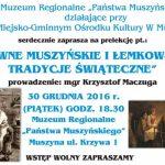 [Muszyna]: Dawne Muszyńskie i Łemkowskie Tradycje Świąteczne