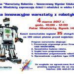 Warsztaty robotów w Pałacu Młodzieży