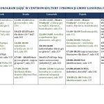 [Łososina Dolna]: Harmonogram zajęć w Centrum Kultury i Promocji Gminy Łososina Dolna