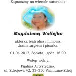 [Piwniczna Zdrój]: Magdalena Wołłejko  – wieczór autorski
