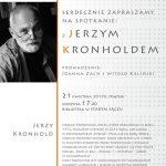 [Stary Sącz]: Spotkanie z Jerzym Kronholdem