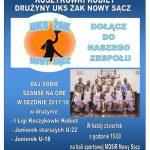 Drużyny UKS Żak Nowy Sącz zapraszają na treningi koszykówki kobiet