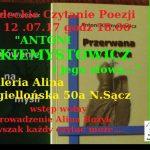 Sądeckie Czytanie Poezji – Antoni Kiemystowicz