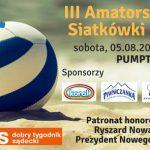 III Amatorski Turniej Siatkówki Plażowej drużyn damskich bądź mieszanych.