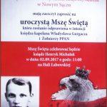 [Łabowa]: Uroczysta Msza Święta w intencji księdza kapelana Władysława Gurgacza