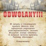 [Muszyna]: VII Jarmark Muszyński – ODWOŁANY!!!
