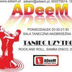 Taniec użytkowy:Rock and Roll, Samba Disco, Discofox – ADeeM zaprasza!