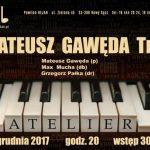 Koncert w Jazz Club Atelier: Mateusz Gawęda Trio