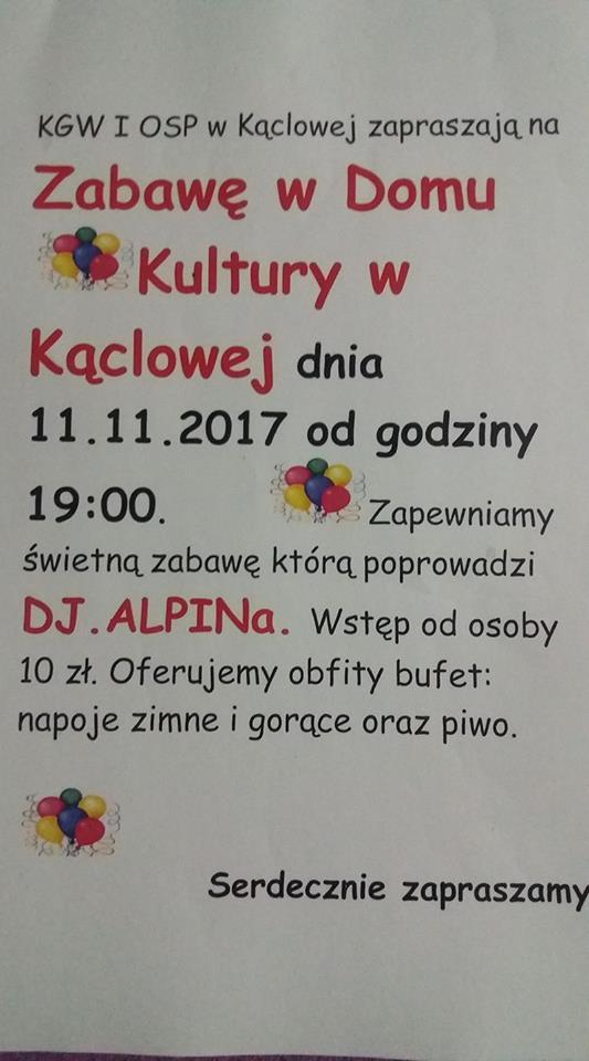 11 listopada Kąclowa