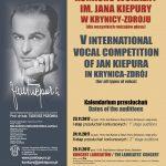 [Krynica – Zdrój]: V Międzynarodowy Konkurs Wokalny im. Jana Kiepury