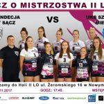 Mecz o Mistrzostwo II Ligi: STS Sandecja Nowy Sącz vs UKS Szóstka Mielec