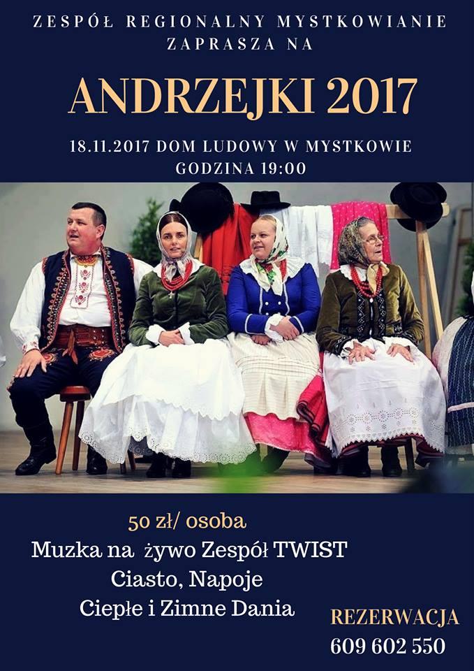Andrzejki 18 listopada Mystków