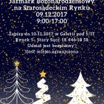 [Stary Sącz]: Jarmark Bożonarodzeniowy – bezpłatne stoiska dla wystawców