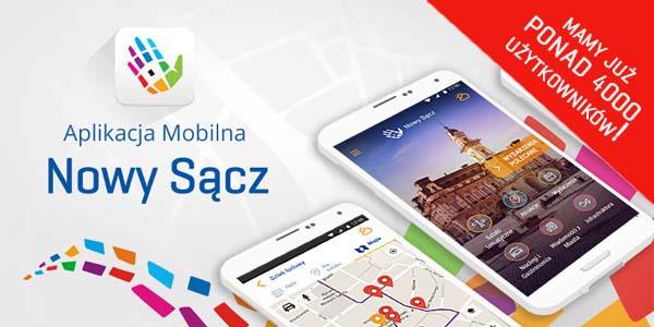 Aplikacja mobilna Nowy Sącz – mamy ponad 4000 użytkowników, pobierz nieodpłatnie i Ty!