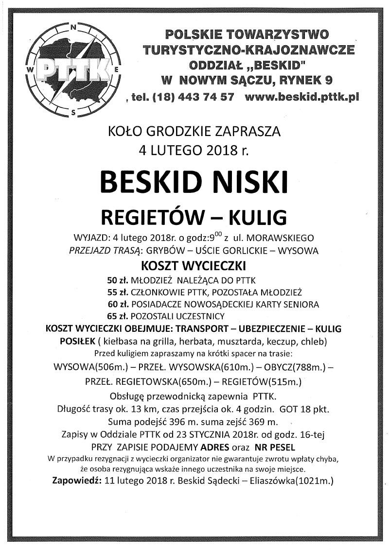 4 lutego Beskid Niski