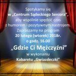 """Kabaret """"Gwiazdeczki"""" w Centrum Sądeckiego Seniora"""