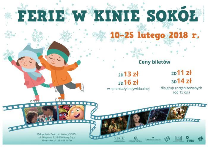 12 – 15 lutego Ferie w Kinie SOKÓŁ