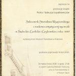 Szkicownik Stanisława Wyspiańskiego z naukowo-artystycznej wycieczki w Sądeckie, Gorlickie i Grybowskie z roku 1889 – promocja książki