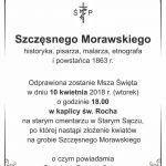 [Stary Sącz]: Pamięci Szczęsnego Morawskiego