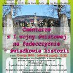 Bóg – Honor – Ojczyzna: Cmentarze z I wojny światowej na Sądecczyźnie – świadkowie historii