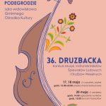 [Podegrodzie]: 36 Konkurs Muzyk, Instrumentalistów, Śpiewaków Ludowych i Drużbów Weselnych –  DRUZBACKA