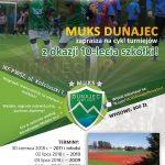 MUKS Dunajec zaprasza na cykl Turniejów z okazji 10 – lecia szkółki
